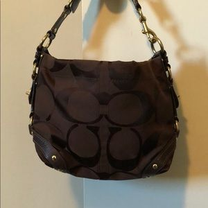 Chocolate brown COACH shoulder bag